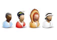 Nationality icons set. Nationality icon set,  illustration Royalty Free Stock Photography