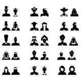 The nationality set black Stock Photos