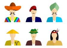 The nationality set Royalty Free Stock Image