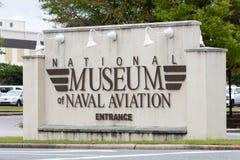 Nationalmuseum des Marinefliegereieingangszeichens stockbilder
