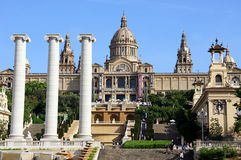 Nationalmuseum in Placa De Espanya, Barcelona. Spanien Stockfoto