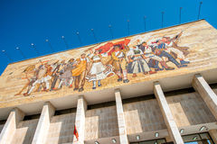 Nationalmuseum in Tirana-Mitte stockfoto