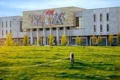 Nationalmuseum in Tirana-Mitte lizenzfreie stockbilder