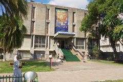 Nationalmuseum von Äthiopien-Gebäude in Addis Ababa, Äthiopien Lizenzfreies Stockbild