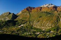 Nationalpark Abruzzo Lazio Molise Arkivbild