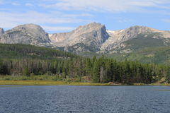 Nationalpark-Abschluss Sprague Lake In Rocky Mountains Lizenzfreies Stockbild