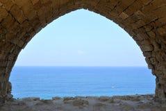 Nationalpark Apollonia, Israel Arkivbilder