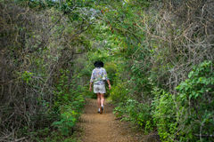 Nationalpark Christoffel - Wanderer Lizenzfreie Stockfotos