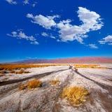 Nationalpark Death Valley Kalifornien Badwater stockfotografie