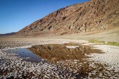 Nationalpark Death Valley während des wolkenlosen heißen Tages Lizenzfreie Stockbilder