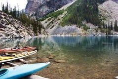 Nationalpark des moraine See-, Banff, Alberta, Kanada Stockbild