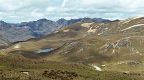 Nationalpark EL Cajas, nah an Mirador Tres Cruces, Ecuador stockfoto