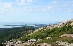 nationalpark för acadiacadillac maine berg Arkivbilder