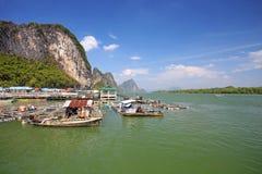 Nationalpark för Ao Phang Nga. Arkivbilder