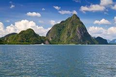 Nationalpark för Ao Phang Nga i Thailand Arkivbilder