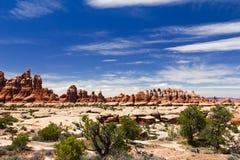 nationalpark för canyonlandshoodoosliggande Royaltyfri Bild