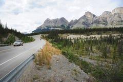 nationalpark för huvudvägicefieldsjasper Arkivbilder