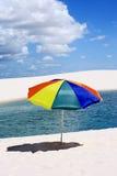 nationalpark för maranheses för strandbrazil lencois arkivbild