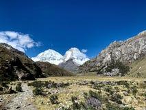 Nationalpark för Peru Ancash Region - Huascarà ¡ n fotografering för bildbyråer