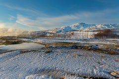 Nationalpark Geysir Stockfotos