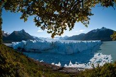 Nationalpark-Gletscher. Perito Moreno. Calafate.   Stockfotografie