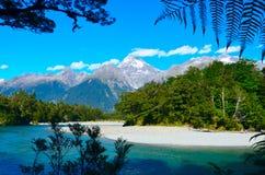 Nationalpark Hollyford Fiordland stockbild