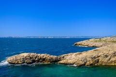 Nationalpark-Küstenlinie Marseilles-Calanques stockfoto