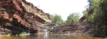 Nationalpark Karijini, West-Australien Lizenzfreie Stockfotos