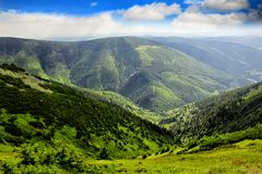Nationalpark Kozi-hrbety- Krkonose in der Tschechischen Republik stockfotos