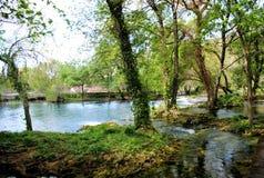 Nationalpark Krka i Kroatien Fotografering för Bildbyråer
