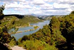 Nationalpark Krka i Kroatien Arkivfoton