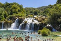 Nationalpark Krka, Kroatien, am 14. August 2017 Lizenzfreie Stockfotos