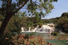 Nationalpark Kroatien-Krka stockbild