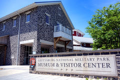 Nationalpark-Museum Gettysburg und Besucher-Mitte stockfotos