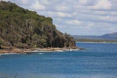 Nationalpark och kustlinje i Noosa Arkivbilder