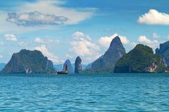 Nationalpark på den Phang Nga fjärden i Thailand Arkivbilder
