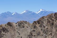 Nationalpark Pampa-EL Leoncito mit dem Aconcagua, Argentinien Lizenzfreie Stockfotografie