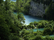 Nationalpark Plitvice-jezera - Fluss Stockfotografie