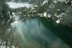 Nationalpark Plitvicka Jezera Stockbild