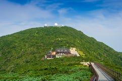 Nationalpark Seoraksan, die Spitzen der Seoraksan-Berge herein Stockfotografie