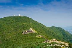 Nationalpark Seoraksan, die Spitzen der Seoraksan-Berge herein Lizenzfreies Stockbild