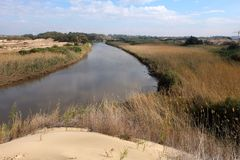 Nationalpark Sorek-Flusses in Israel Lizenzfreies Stockfoto