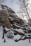 Nationalpark Stolby Krasnoyarsk Fotografering för Bildbyråer