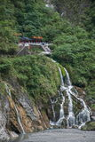 Nationalpark Taroko in Hualien County, Taiwan Immergrün-Fälle und Changchun-Tempel Lizenzfreies Stockbild