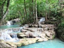 Nationalpark Thailand Erawan Lizenzfreie Stockfotos