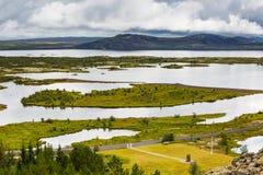 Nationalpark Thingvellir Stockfotos