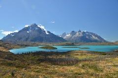 Nationalpark Torresdel Paine - See Pehoe Lizenzfreie Stockfotos