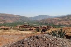Nationalpark Toubkal i Marocko Royaltyfri Foto