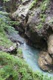 Nationalpark Tscheppaschlucht, Carinthia, Österrike Arkivbilder