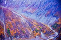 Nationalpark und Reserve Kluane, Tal und Montainsde-Ansichten Stockbilder